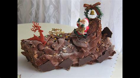 christmas yule log  buche de noel part