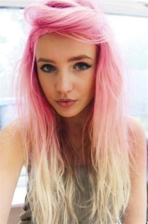 Pink To Blonde Ombre Hair Pretty Girls Long Hairstyle