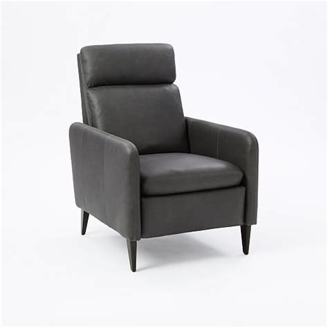 lewis leather recliner west elm
