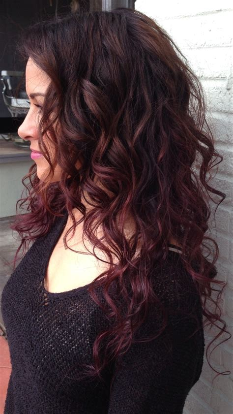 Red Ombre Hair Color Balayage