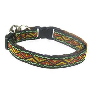cool cat collars aztec style jacquard cat collar coolcatcollars co uk