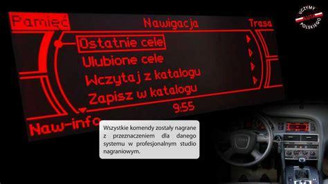 AUDI MMI LOW BASIC POLSKIE MENU POLSKI LEKTOR - YouTube