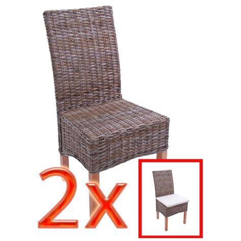 siege en osier accueil 2x chaise à manger chaise en osier chaise m44