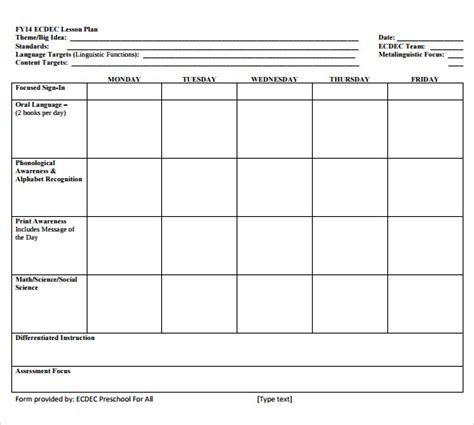 sample simple lesson plan template 11 documents 226 | Sample simple lesson plan Printable