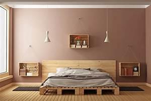 Bett Mit Paletten : bett aus holzpaletten ~ Sanjose-hotels-ca.com Haus und Dekorationen