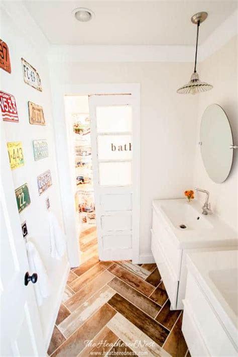 kids diy bathroom reveal  heathered nest