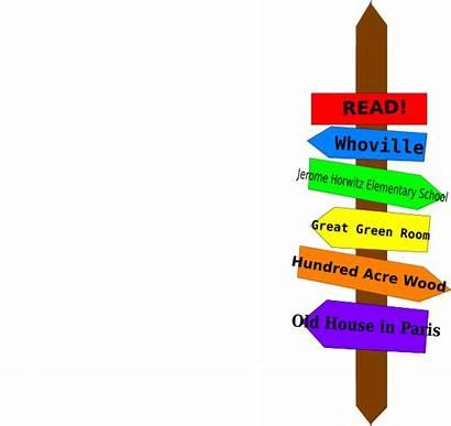 Literary Signpost Clip Clipart Clker