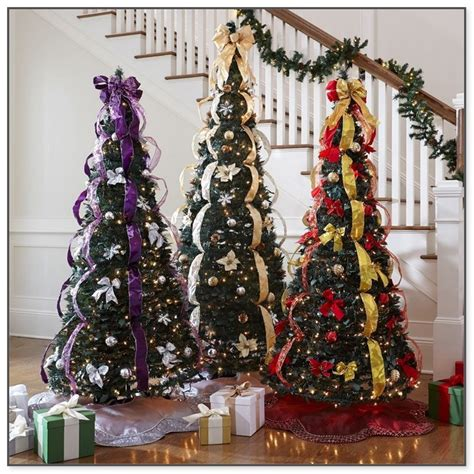 pre decorated pull  christmas tree