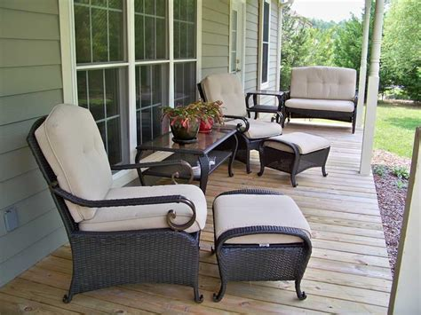 furniture front porch furniture with wall wood awesome