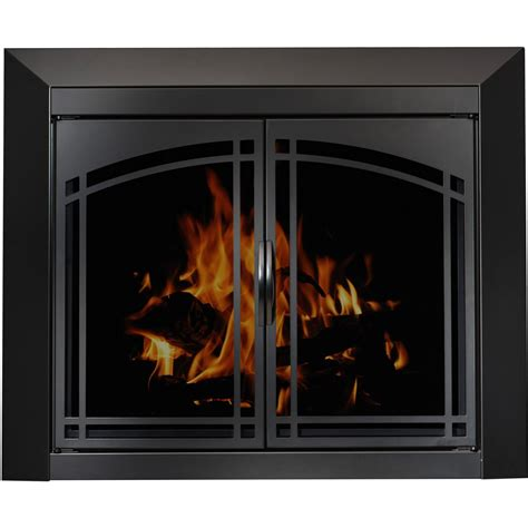 fireplace with glass doors arched plate masonry fireplace glass doors manassa doors