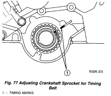 i am trying to change a timing belt out of a 2000 sebring convertible and the top left cover