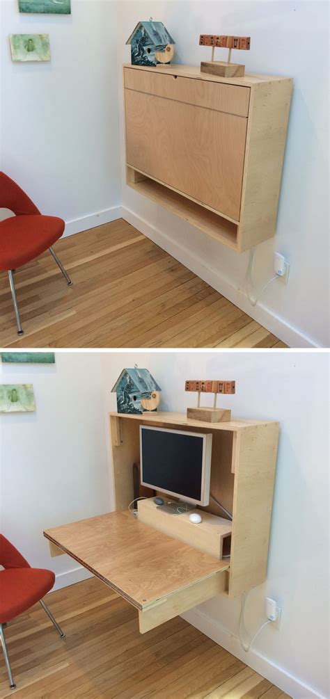 how to make a wall mounted desk 16 wall desk ideas that are great for small spaces