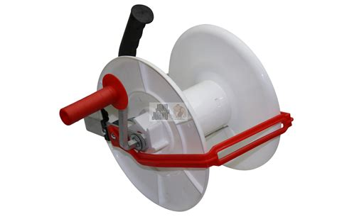 wind up geared electric fence reel for poly wire grazing jono johno