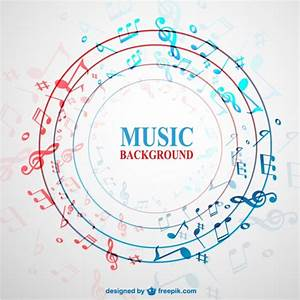 Circle background with music notes Vector | Free Download