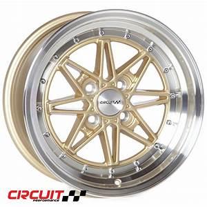 Cp24 15x8 Gloss Gold  Machined 4x100 Et25 Wheel