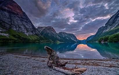 Mountain Beach Lake Landscape Nature Night Norway