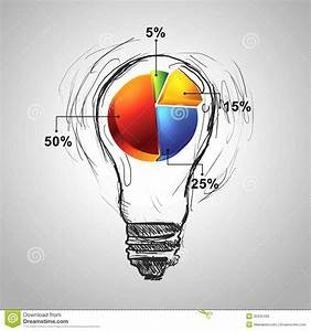 Drawing Pie Chart Diagram For Business Royalty Free Stock