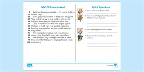 * New * Lks2 Bbc Children In Need Daily News 60second Read