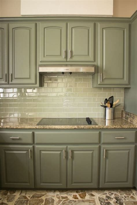 kitchen cabinet paint color   creamall green