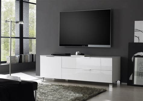 Meuble Tv Arno by Meuble Tv Design Arno Coloris Blanc Laqu