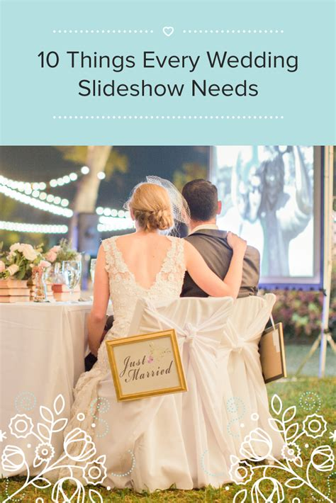 As you celebrate, displaying a wedding slideshow of both the bride and groom growing up can help the guests walk down memory lane as the image lead up to the present day celebration. How to Create an Unforgettable Wedding Slideshow with Music | Wedding reception slideshow ...