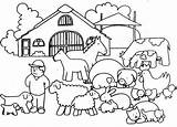 Coloring Animals Farmer Farm Colouring Animal Sheets Bestcoloringpagesforkids Visit sketch template
