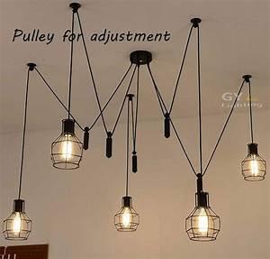 Lustre Moderne Pas Cher : acheter ac100 240v 5 pcs e27 poulie ~ Dailycaller-alerts.com Idées de Décoration