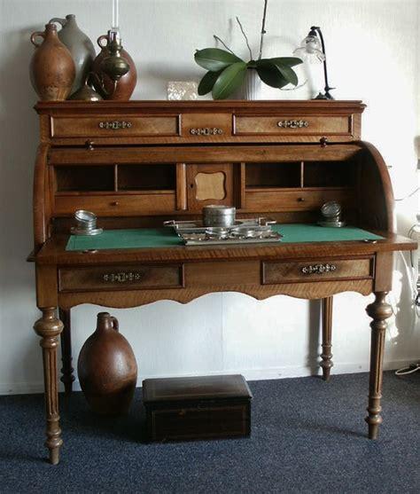 bureau de notaire antique néerlandais en acajou env 1850