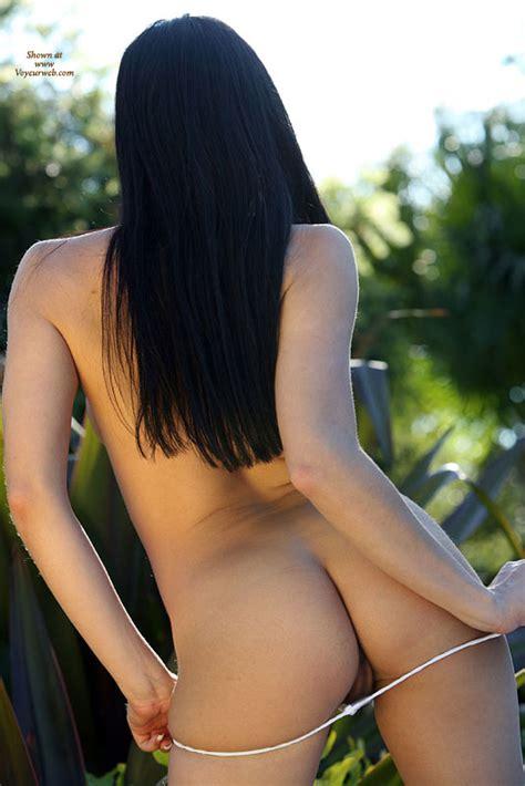 Naked Brunette From Back Posing Outdoors July Voyeur Web Hall Of Fame