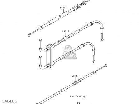 kawasaki zx900d2 zx9r 1999 fg st parts list partsmanual partsfiche