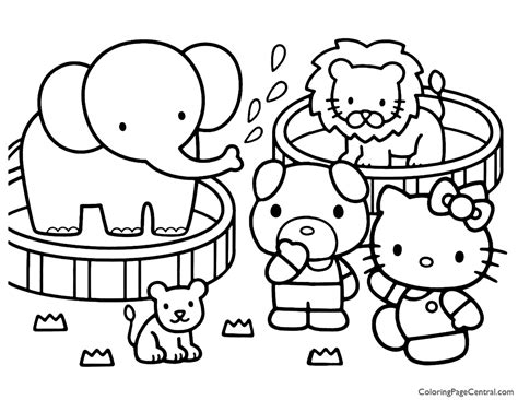 Hello Kitty Coloring Page 16 Coloring Page Central