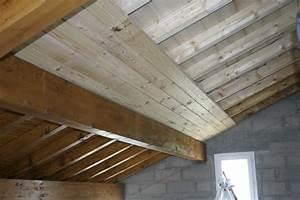 Pose Lambris Bois : faux plafond bois blanc ~ Premium-room.com Idées de Décoration