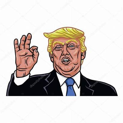 Trump Donald Cartoon President Caricature Caricatura States