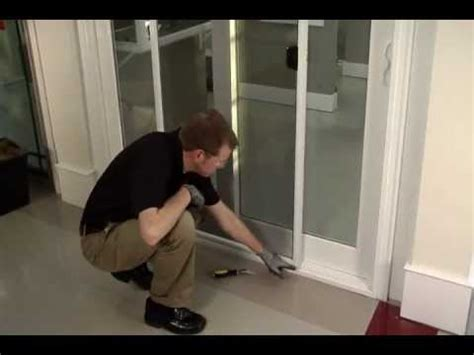 how to proper removal replacement of sliding glass door