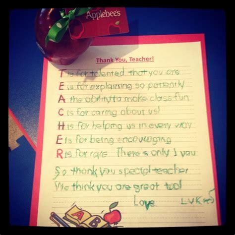 teacher appreciation day cute letter  teacher