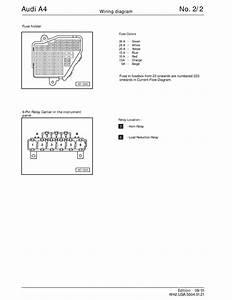 Manual Audi A4 B5 Audi A4 B5 Wiring Diagrams Schematy Page 2