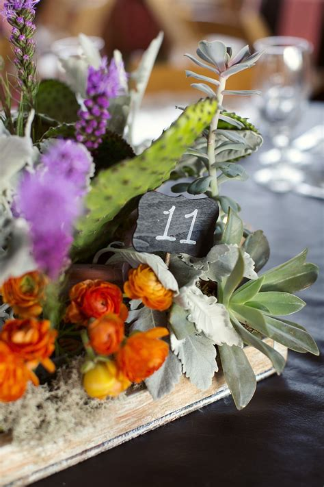 Table Centerpiece and Rustic Floral Texas Ranch Rustic