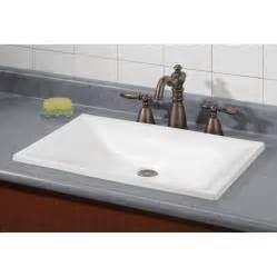 shop cheviot estoril white drop in rectangular bathroom sink at lowes com