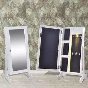 Miroir à Bijoux : acheter armoire bijoux avec miroir et clairage led pas cher ~ Teatrodelosmanantiales.com Idées de Décoration