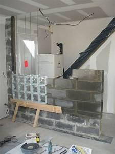 Douche Mur Verre : mur briques de verre 2 conseil de pose pinterest ~ Zukunftsfamilie.com Idées de Décoration