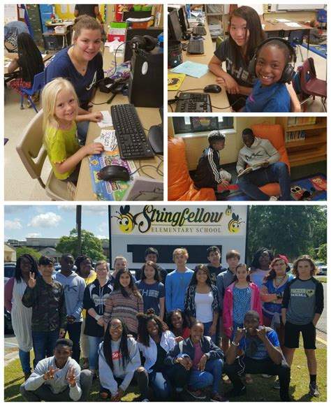 Branch Junior High C A Gray Students Assist Those At Stringfellow Local