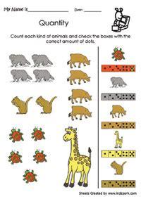 animals counting  matching data handling activity sheet
