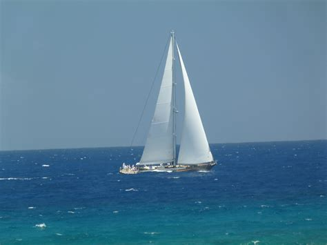 Sailboat On Water by Tempt Your Tastebuds In St Maarten Melody Wren