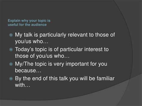introducing a presentation