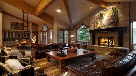 corner fireplace vaulted ceiling luxury mansion living