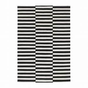 Tapis Ikea Noir Et Blanc : stockholm tapis tiss plat 170x240 cm ray noir blanc cass ikea ~ Teatrodelosmanantiales.com Idées de Décoration
