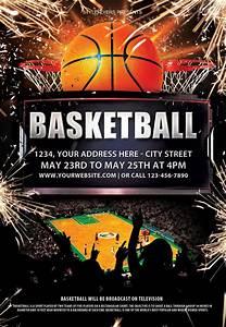 Invite Maker Online Free Basketball Psd Flyer Template Psd Flyer Templates Flyer