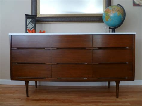 Updated Mid Century Modern Dresser  The Weathered Door