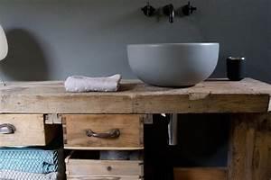 Waschtisch Aus Holz : waschtisch aus holz f r die aufsatzwaschbecken natur im ~ Michelbontemps.com Haus und Dekorationen