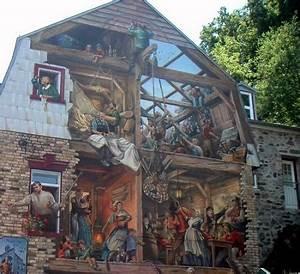 Trompe L Oeil Mur : murs peints trompe oeil ~ Dode.kayakingforconservation.com Idées de Décoration
